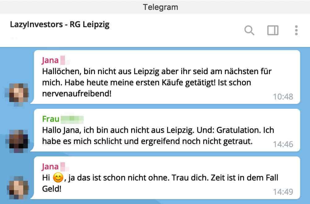 Telegram Lokalgruppe - LazyInvestors